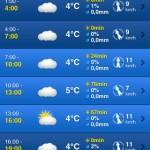 Weather Pro - den po hodinách