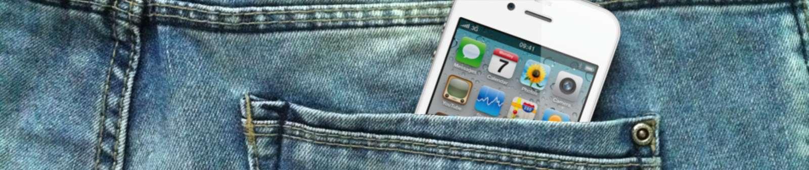 iPhone v kapse
