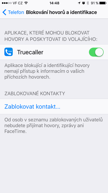Truecaller - nastavení